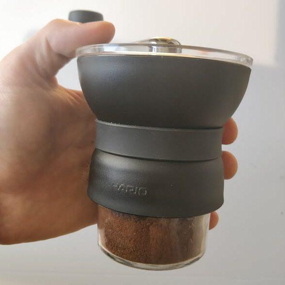 hario with masin jar grounds bin