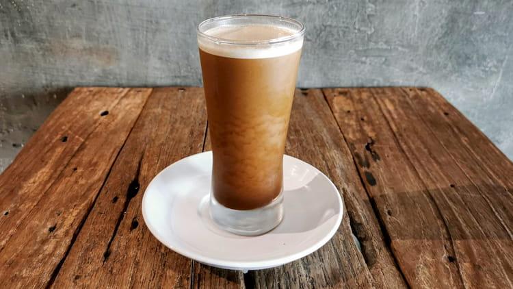 nitro coffee wood table