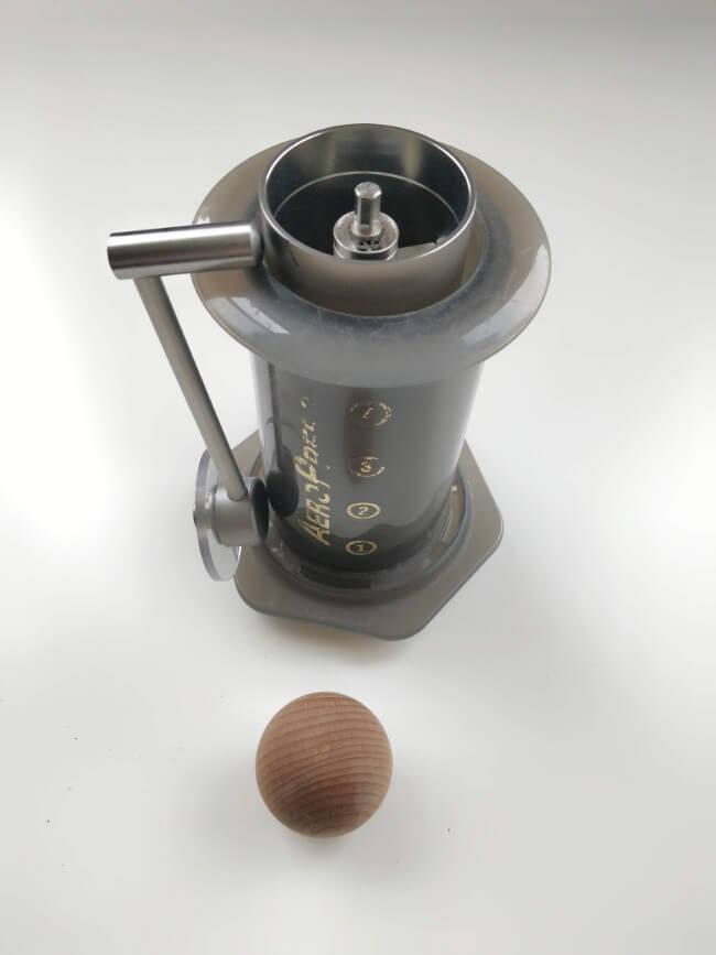 Aeropress with grinder inside