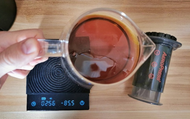 échelle de rapport café / eau