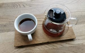 kalita brewed at the right temperature for coffee