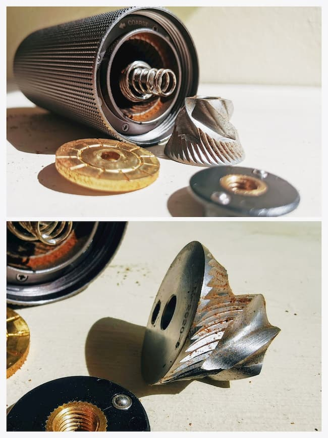 Timemore conical steel burrs collage