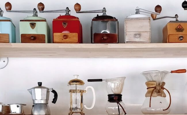 collection of coffee gadgets