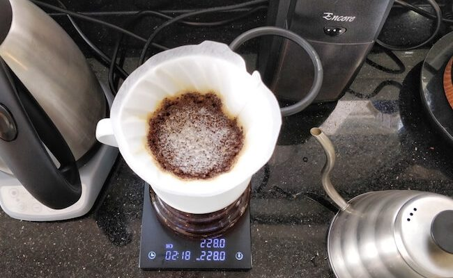 The Encore is perfect for pour over.